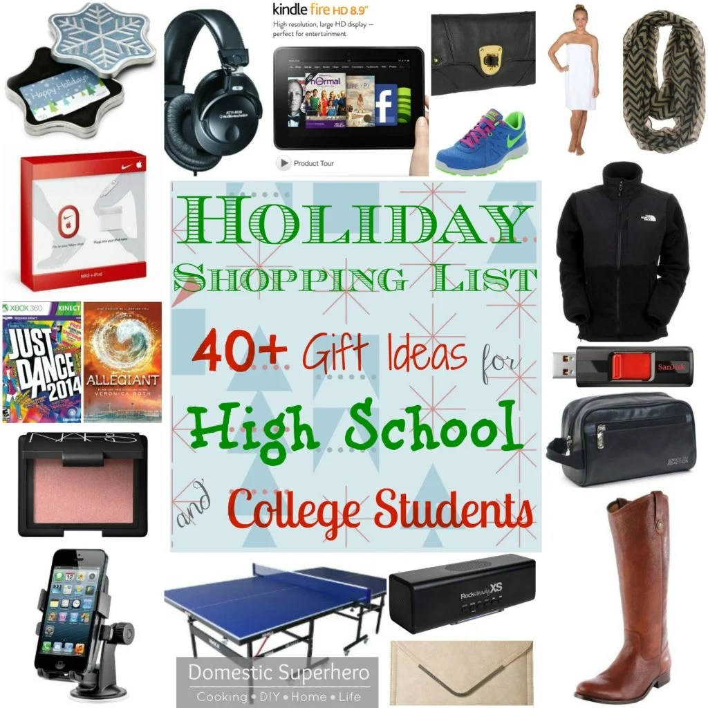 Holiday Shopping List 40 T Ideas For High School And