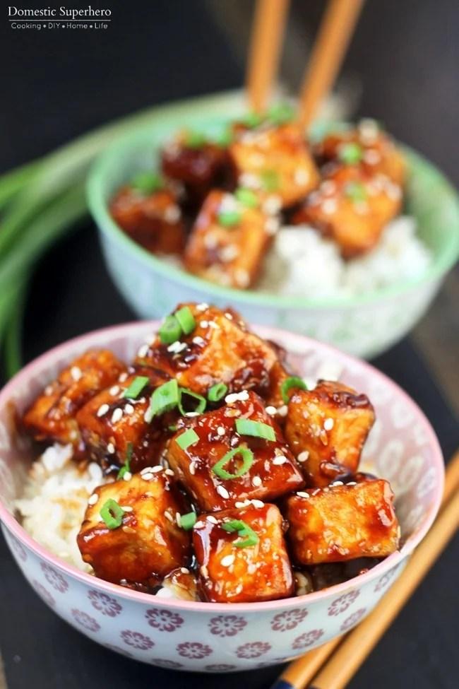 Honey Sesame Tofu 5