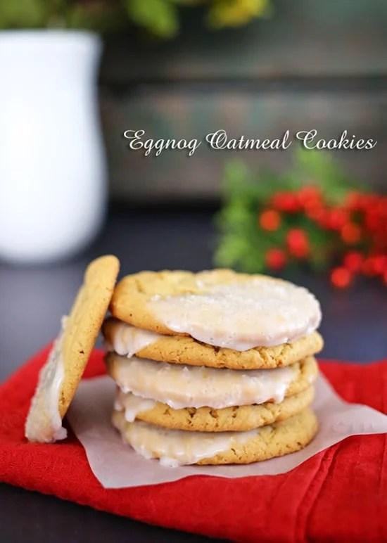 Eggnog Oatmeal Cookies