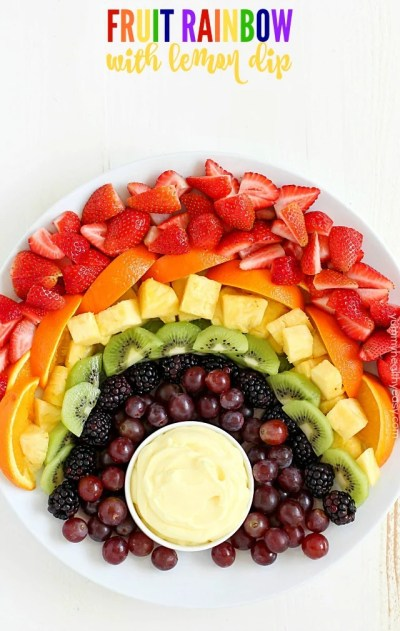 Fruit Rainbow with Lemon Dip