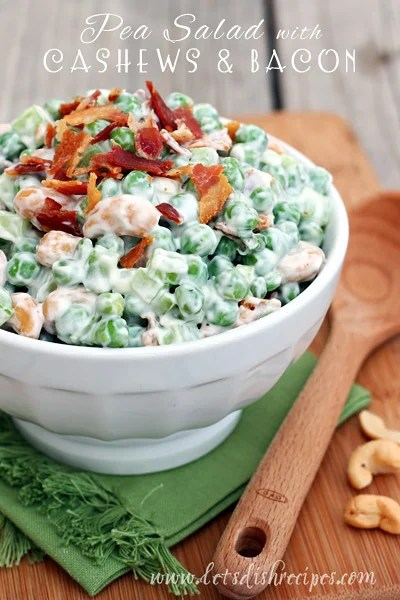 Pea Salad with Cashews and Bacon