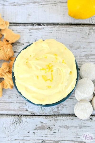 Three Ingredient Lemon Cake Batter Dip