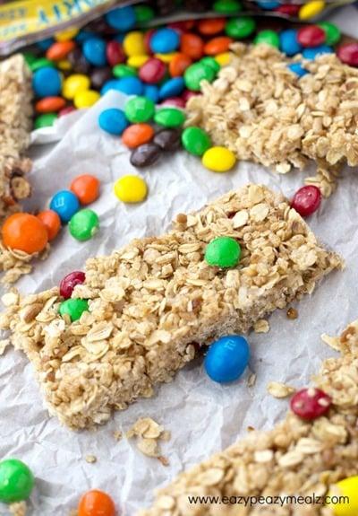 No Bake Granola Bars by Eazy Peazy Mealz