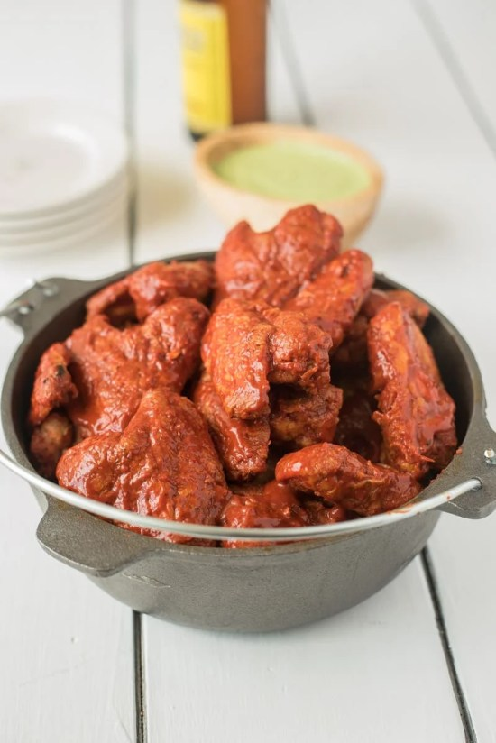 Bowl of chicken wings.