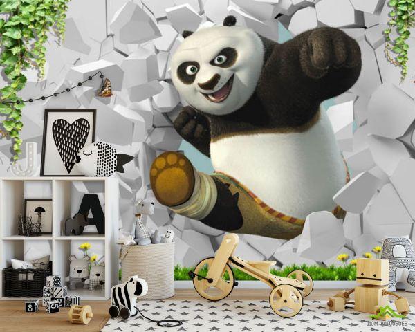 ДОМ фотообоев 】 « Фотообои Панда детская 3д», (арт. 22478 ...