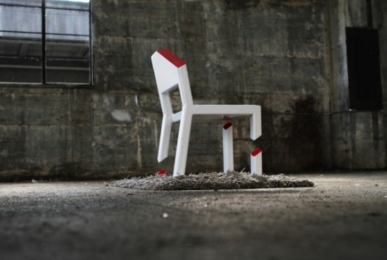 iluzja optyczna z krzesłem