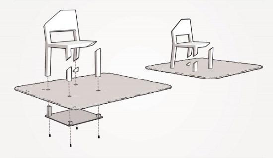 iluzja optyczna - schemat