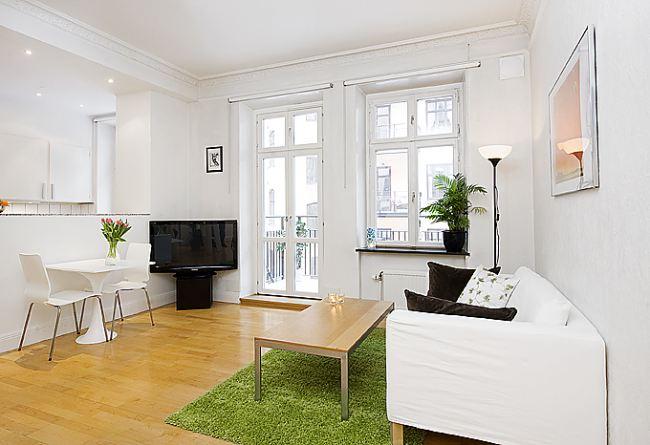mały jasny apartament
