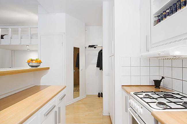 Kuchnia w małym apartamencie