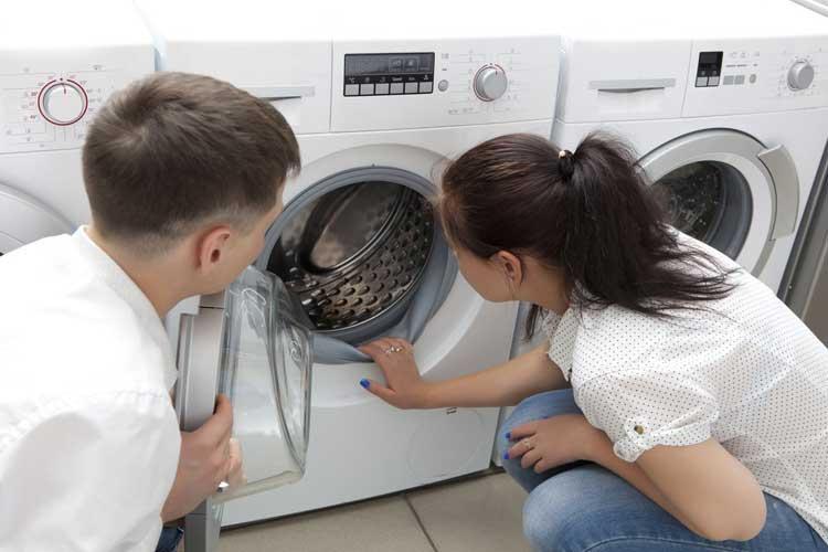 para sprawdzająca czystość pralki