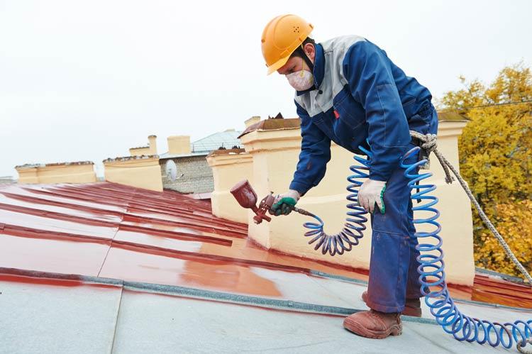 Farba do dachu z blachy – malowanie natryskowe