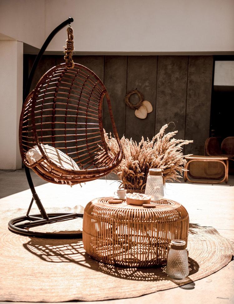 designerski fotel wiszący Monnarita Hugo