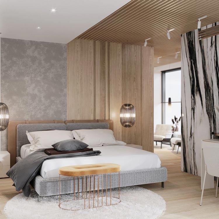 Sypialnia - nowoczesna stodoła