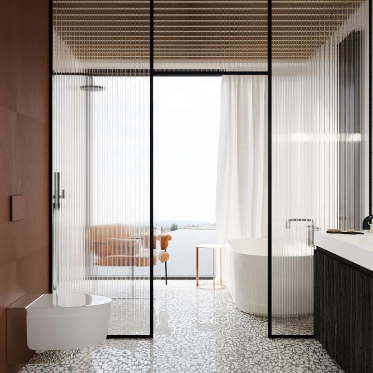 Łazienka w nowoczesnej stodole