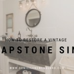 How to Restore a Vintage Soapstone Sink