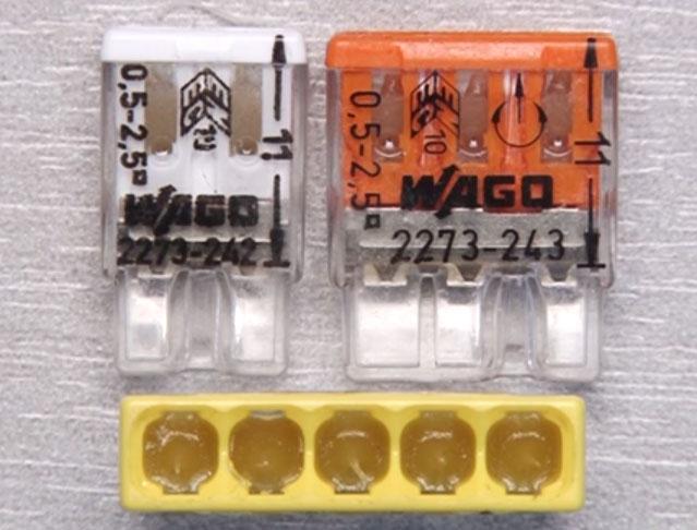какими зажимами Wago можно подключть медные и алюминиевые провода