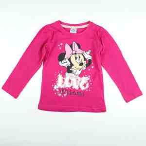 T-shirt rose manches longues Minnie