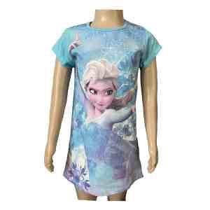 Chemise de nuit la reine des neiges bleu