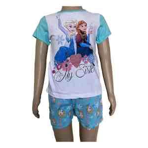Pyjama court La reine des neiges modèle sister