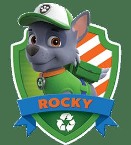 Rocky, un chiot de la Pat Patrouille