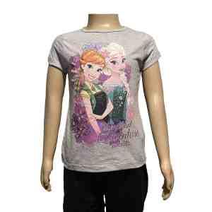 T-shirt manches courtes gris La reine des neiges