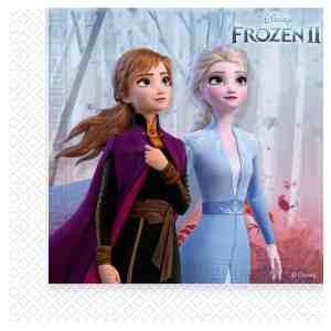 20 serviettes en papier la reine des neiges 2
