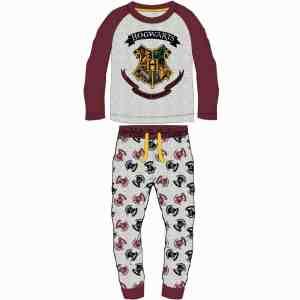 Pyjama Harry Potter bordeaux en coton