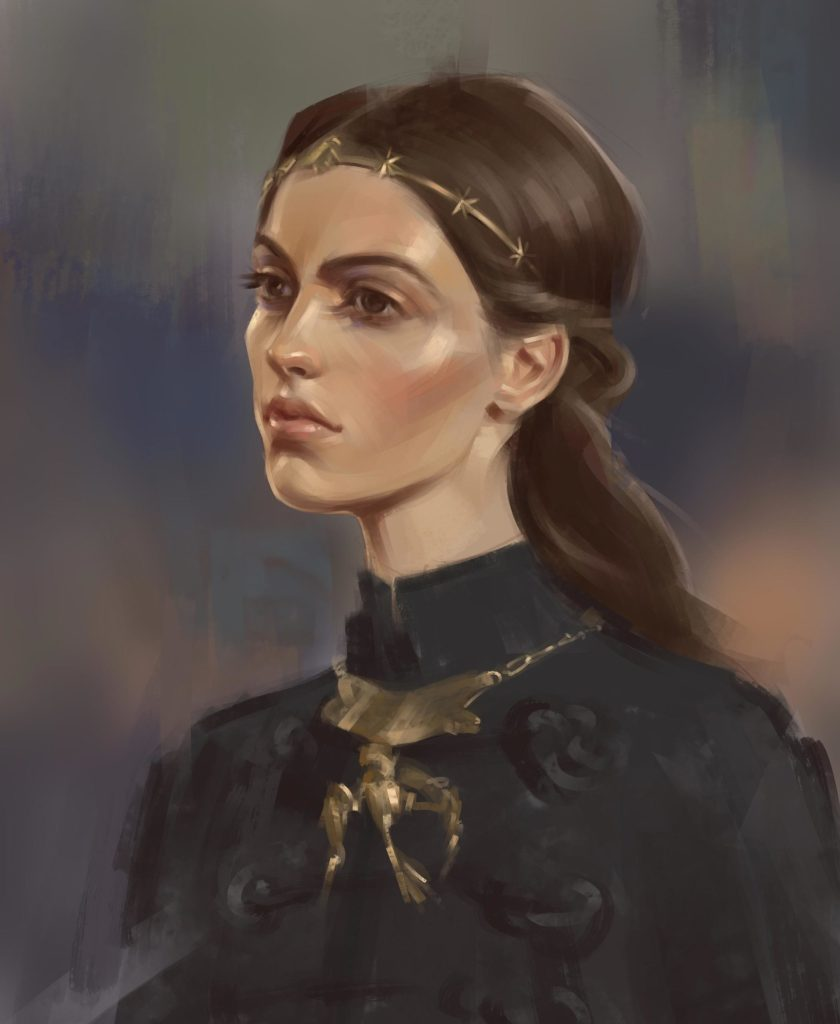 Digital painting portret 01 scaled