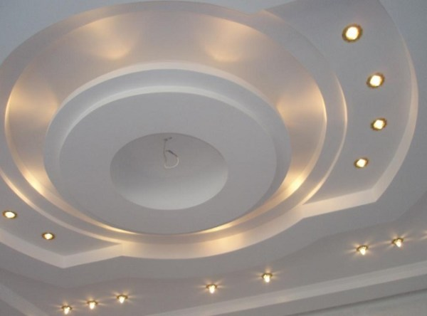 Дизайн потолков из гипсокартона: фото, примеры