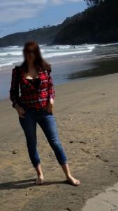 dominalucia en la playa