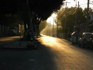 Así se ven las calles de Tehuacán. Hermoso amanecer. 03/07/2014