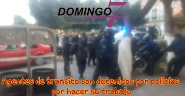 trifulca entre policia y transito municipal tehuacan