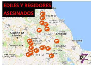 EDILES Y REGIDORES ASESINADOS EN PUEBLA