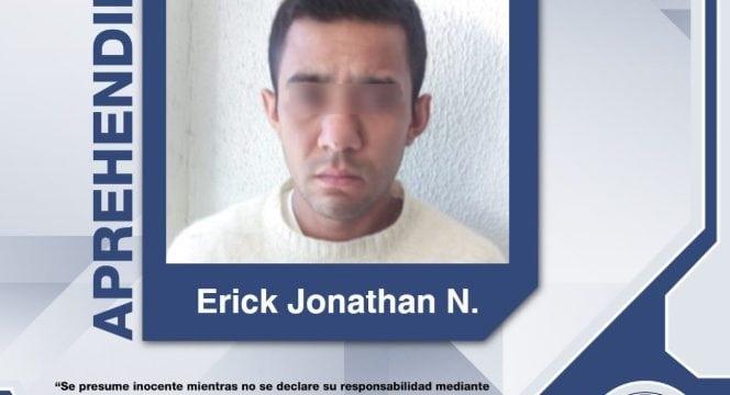CAE EN TLAXCALA ERICK JONATHAN, PROBABLE RESPONSABLE DEL HOMICIDIO EN PUEBLA