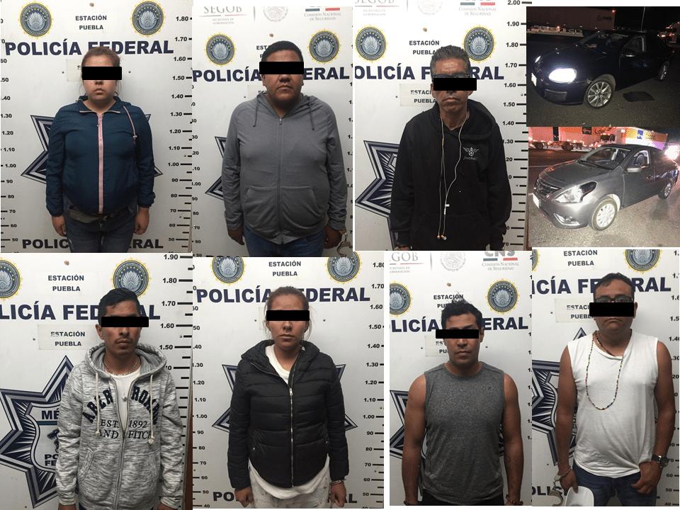 DETIENEN A DOS MUJERES Y 5 HOMBRES POR PORTACIÓN DE ARMAS