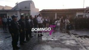 FELIPE PATJANE REALIZA PASE DE LISTA A ELEMENTOS DE SEGURIDAD PÚBLICA, TRÁNSITO MUNICIPAL Y PROTECCIÓN CIVIL
