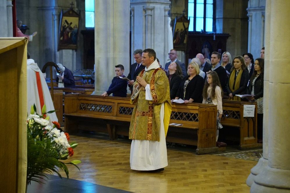 Bro Philip Mulryne OP just after being vested