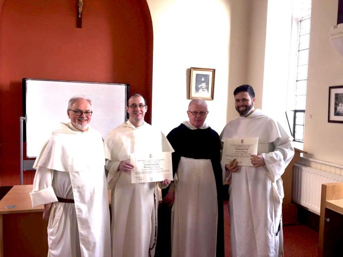Fr. Gregory Carroll OP, provincial, Fr. Matthew Farrell OP, Fr. Joseph Dineen OP and Fr. Jesse Maingot OP