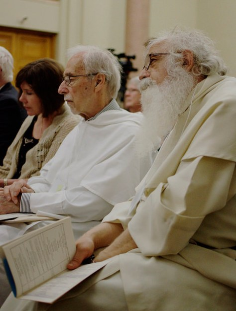The Dominican Order is  in the audience during the conference.