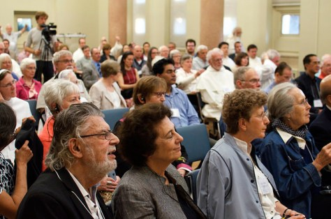 The audience listens intently during the conference for Vatican II and the Promise of Renewal.