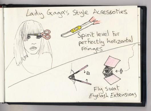 Lady Gaga fringe and eyelashes