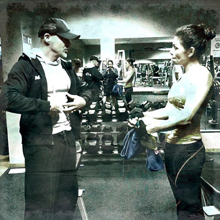 Stefan Morawietz mit Kundin, Personal Training, Actic Fitness