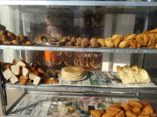Full breakfast offer on display across the road from FINCA HQ