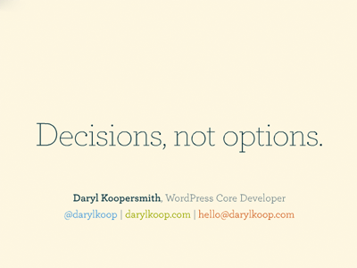 desisions-not-options