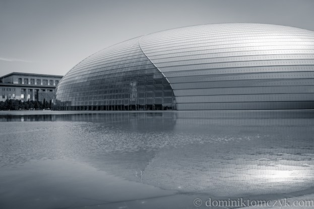 Narodowe Centrum Sztuk Widowiskowych, Narodowe Centrum Sztuk Widowiskowych w Pekinie, National Centre for the Performing Arts, Pekin,Beijing, Chiny, China, NCPA, architekt Paul Andreu, opera, Teatr Narodowy w Pekinie, The National Theatre in Beijing