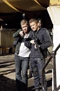 Nic and Chris with guns - tweeted by @VaunWilmott