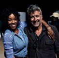 Guest star Alicia Foxy and Deran Sarafian on set - posted by @VaunWilmott