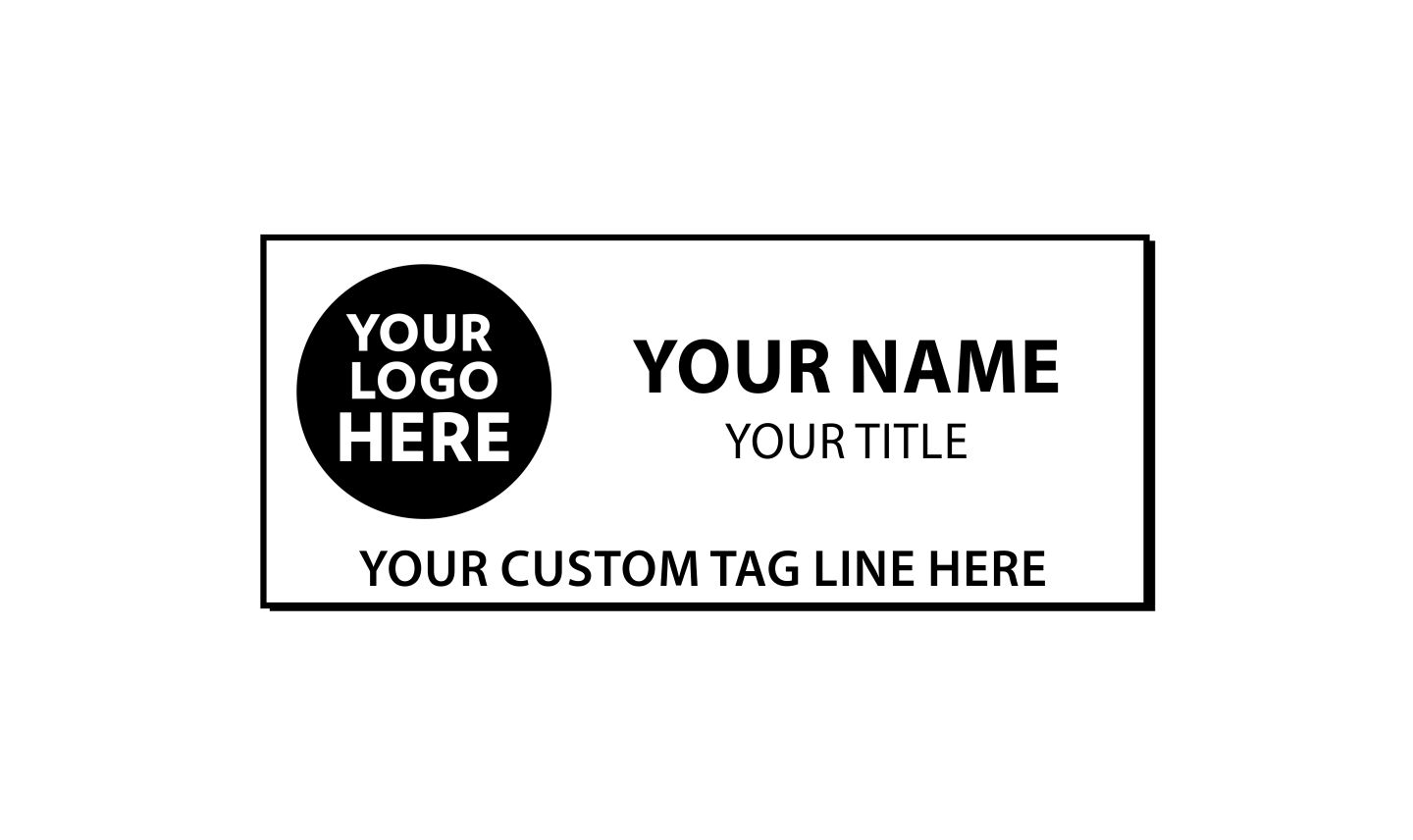 3 X 1 Inch Round Corner Engraved Name Tag