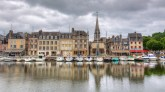 Honfleur, Normandie, France.