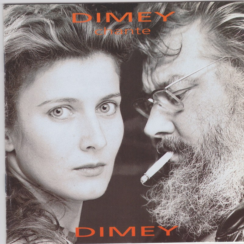"Pochette CD de l'album ""Dimey chante Dimey"" de Dominique Dimey"